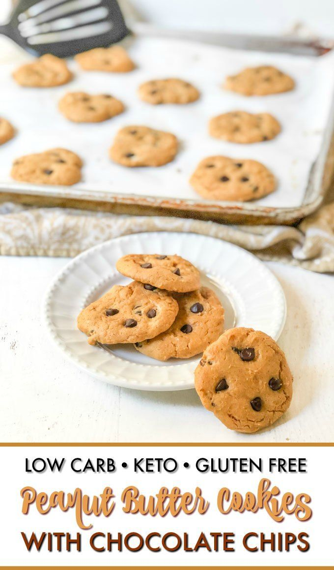 If you are like me and love chocolate peanut butter anything try these low carb peanut butter cookies with chocolate chips With only a few ingredients you have a keto sna...