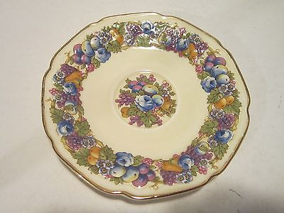 crown ducal china | Vintage Crown Ducal Florentine China Plate Fruit Design gold trim . & crown ducal china | Vintage Crown Ducal Florentine China Plate Fruit ...