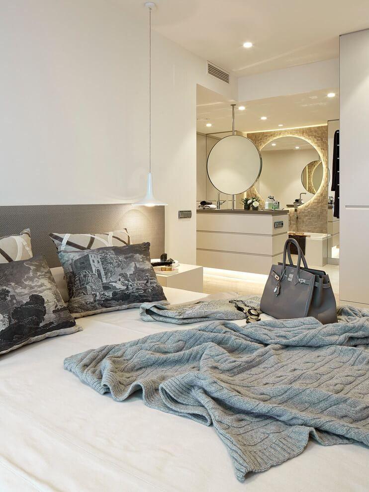 Schlafzimmer nahtlos mit dem Badezimmer verbunden | idee | Pinterest ...
