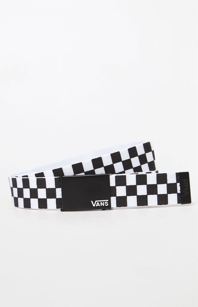 96874983349 Vans Deppster Checkerboard Web Belt - Checker 1Sz