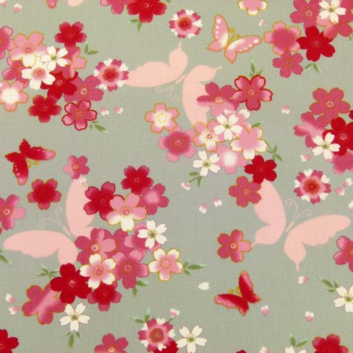 PINK ROSES & SMALL BLUE FLOWERS ON PINK & WHITE STRIPE 100% COTTON FABRIC FQ'S Crafts