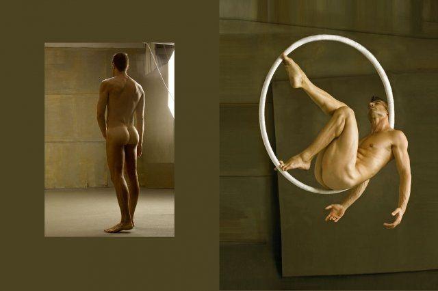 Nude acrobatics for that