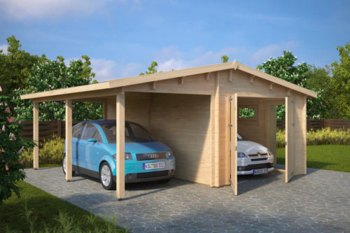 Garage Med Carport G 31m 5 7 X 5 5 M 44mm Carport Prices Carport Garage Carports For Sale