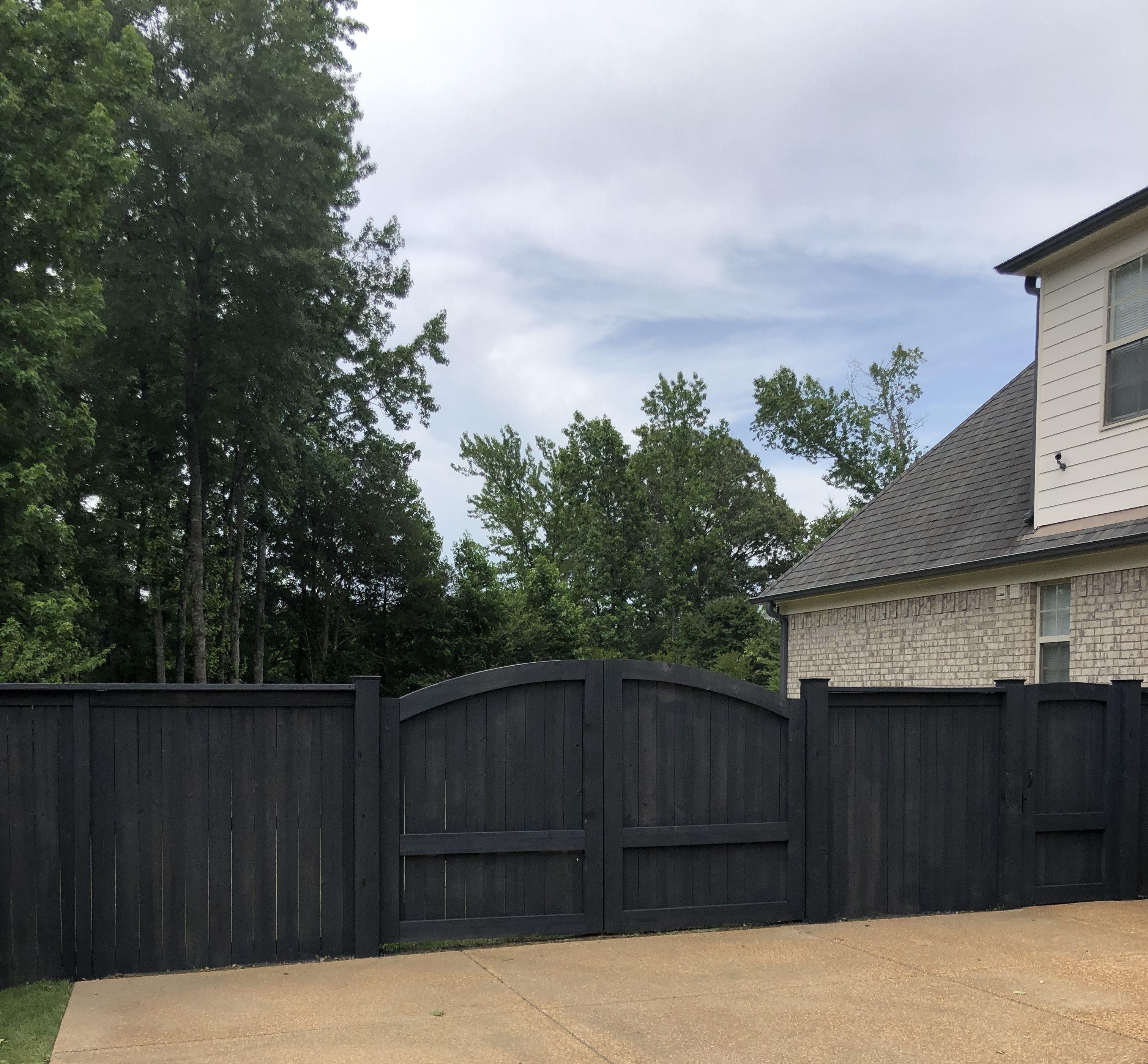 Dark Gray Fence Diy Backyard Fence Backyard Fences Grey Fences