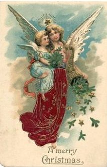 Angels Christmas 2020 Vintage Christmas Angel Christmas Card in 2020 | Vintage christmas