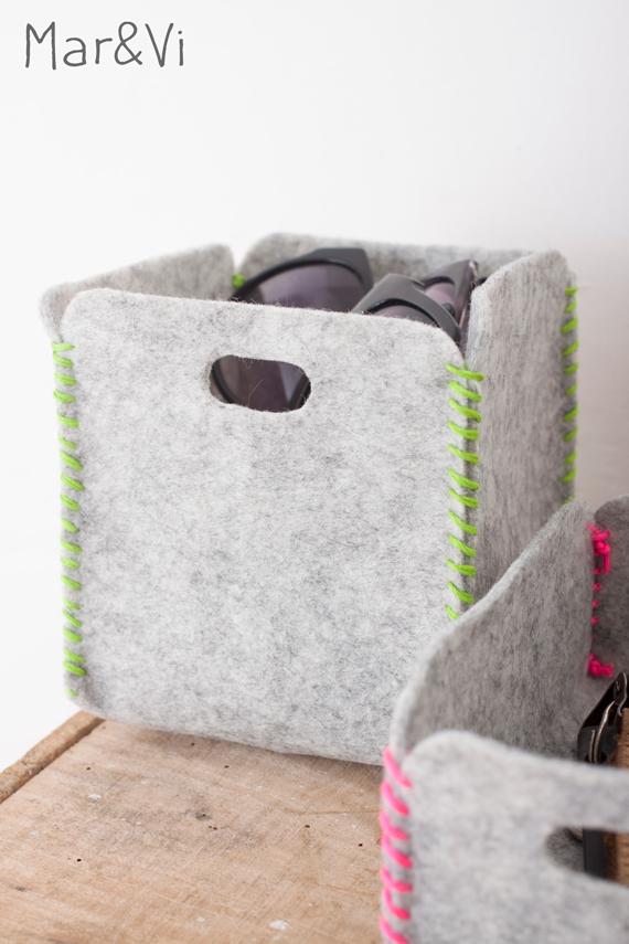 Cestas de fieltro fáciles | ideas | Pinterest | Felt, Felt crafts y ...