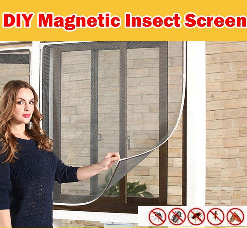 Ready StockDIY Magnetic Mosquito Insect Screen Kit Window Netting Net Mesh Anti Dengue