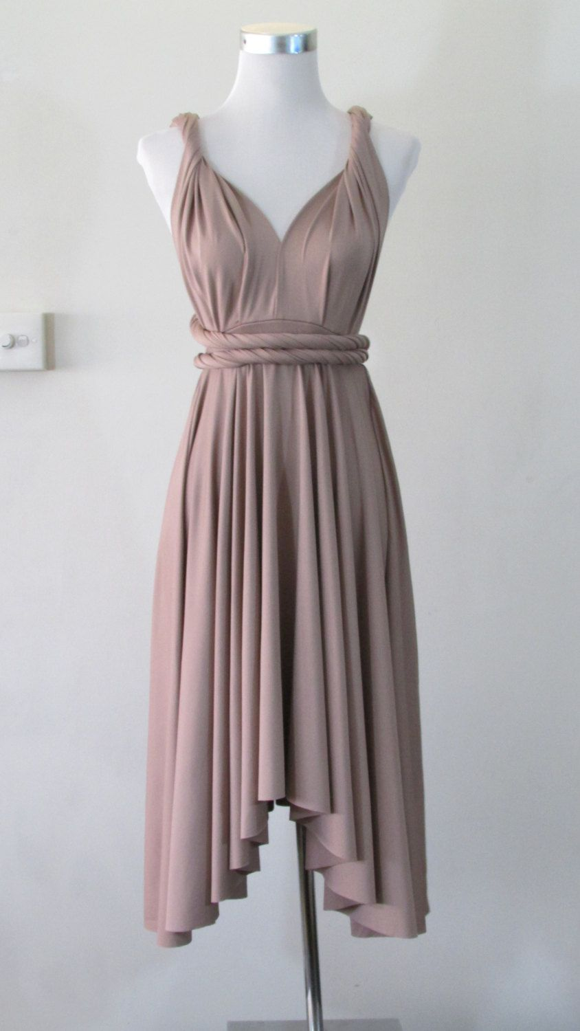 Summer day dress convertible dress in iced mocha by herbridalparty