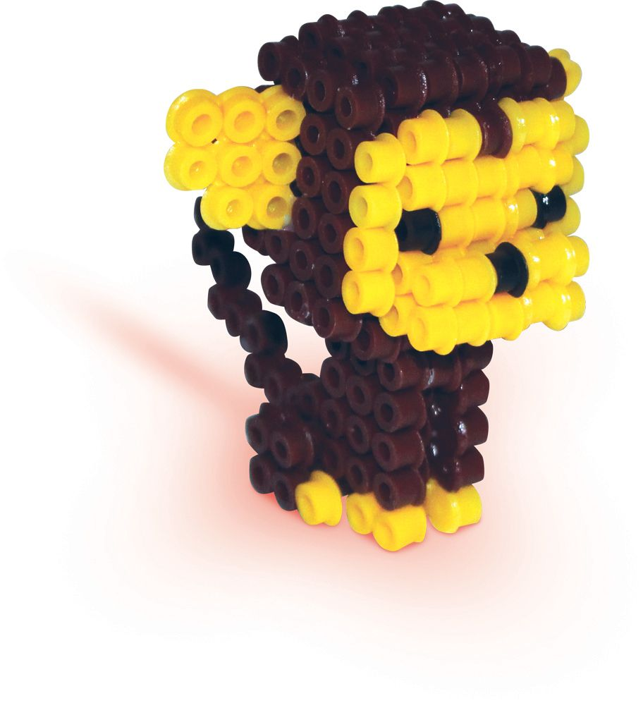 3d monkey perler beads by ses creative hama beads pinterest hama perles hama et perles. Black Bedroom Furniture Sets. Home Design Ideas