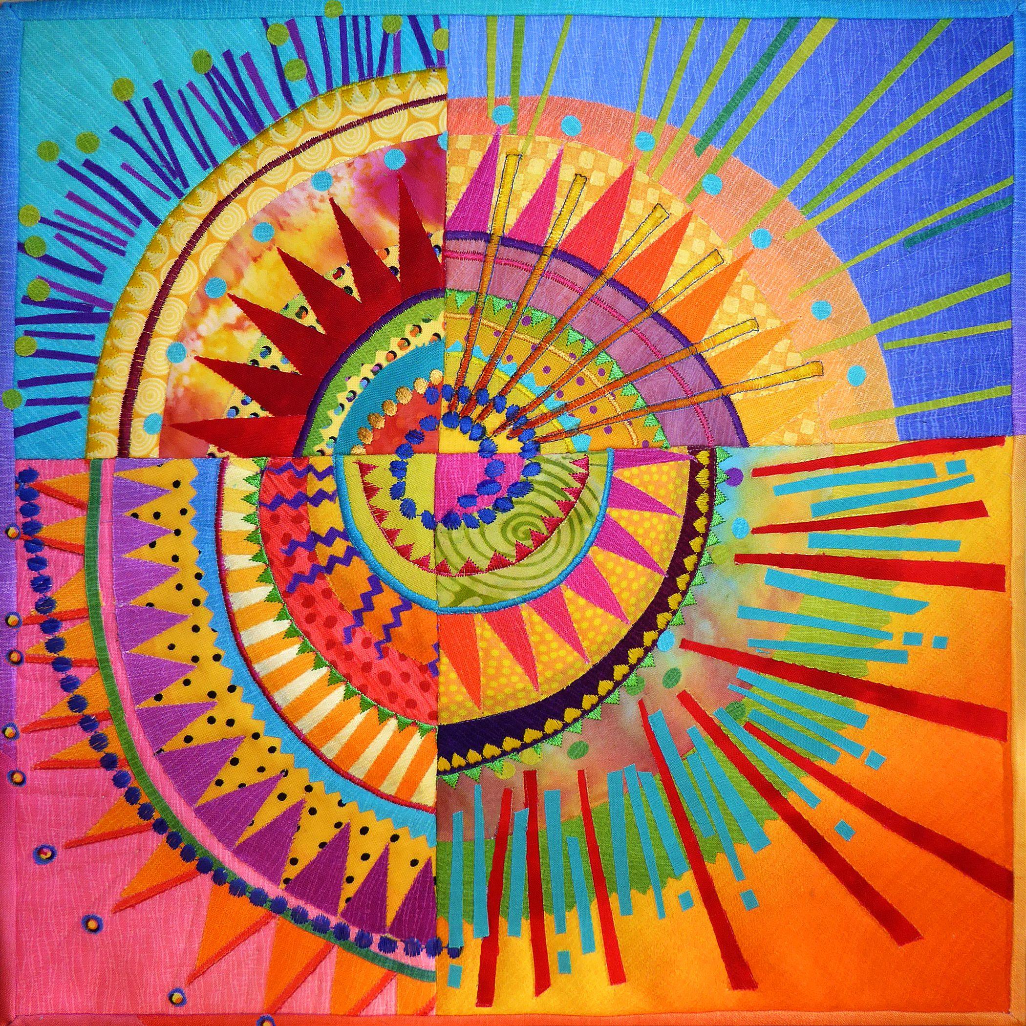 SUMMER SOLSTICE - mini art quilt by Nancy Messier. I was ... : art quilts pinterest - Adamdwight.com