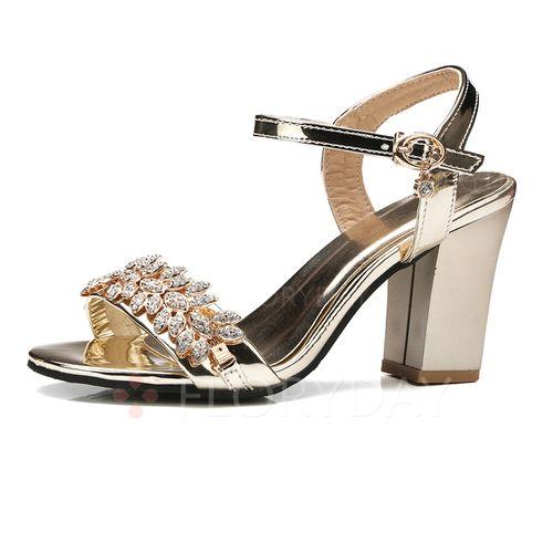 Descubierto Dorado Tacón Tira Verano Zapatos Plateado en Mujer PU Talón Cuña Sandalias T W4w0qcPxR