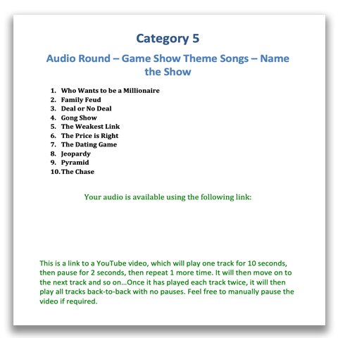 Quiz Night Kit 9 | Quiz Night Audio Rounds | Powerpoint