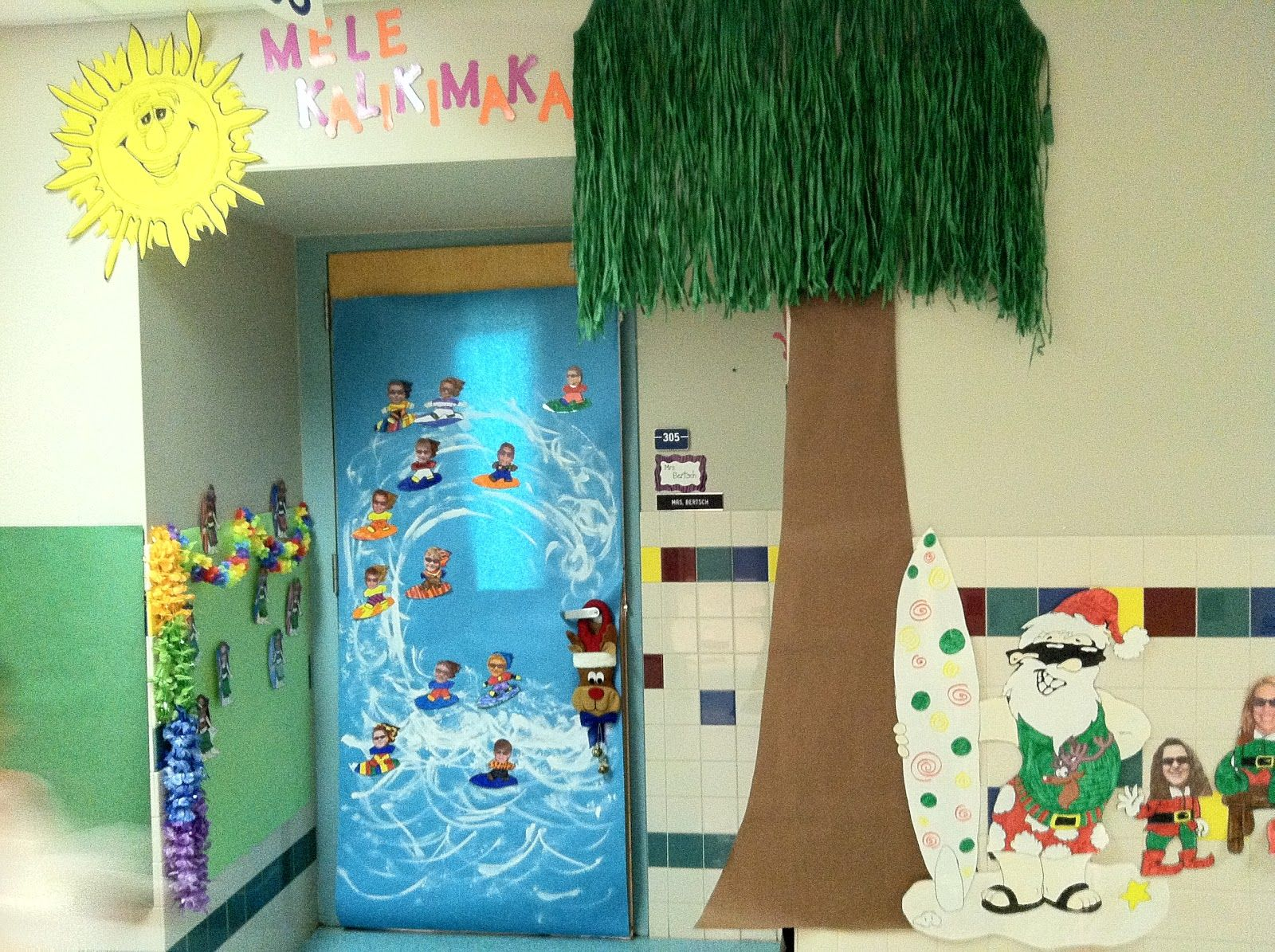 Our school hosted a Christmas door decorating