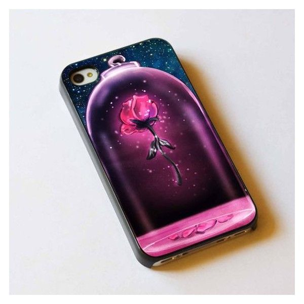 Beauty and the Beast rose iPhone case @Aubrey Porter if you ever get... ❤ liked on Polyvore featuring accessories, tech accessories, disney iphone case, disney, iphone case, apple iphone cases and iphone sleeve case