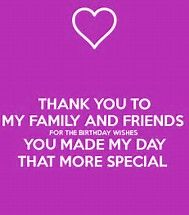 Image Result For Thank You Friends And Family For The Birthday