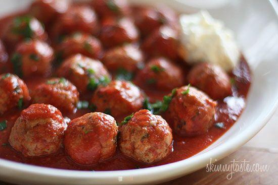 Crock Pot Italian Turkey Meatballs #meatballs #crockpot #slowcooker #turkey #italian #spaghetti
