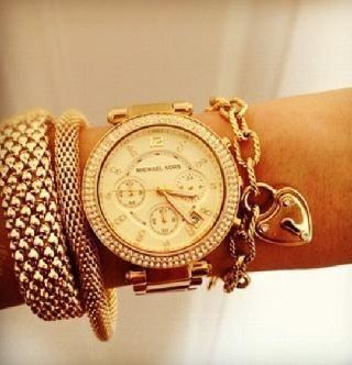 010b063f2487 Michael Kors Women s MK5354 Parker Gold Watch