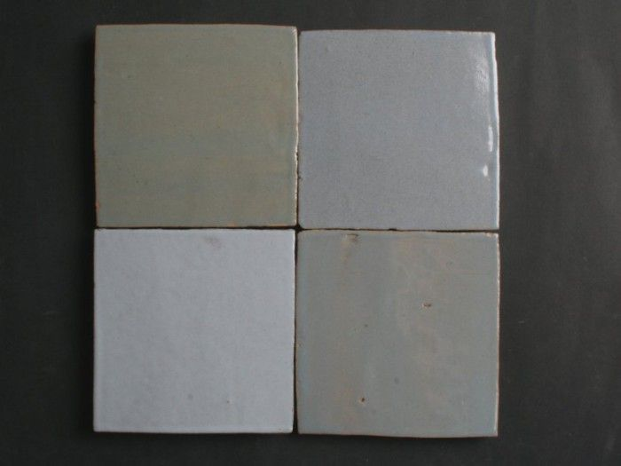 Tegels 10x10 Gamma : Authentiek blauw grijs mix 10x10 cm artisinale tegels