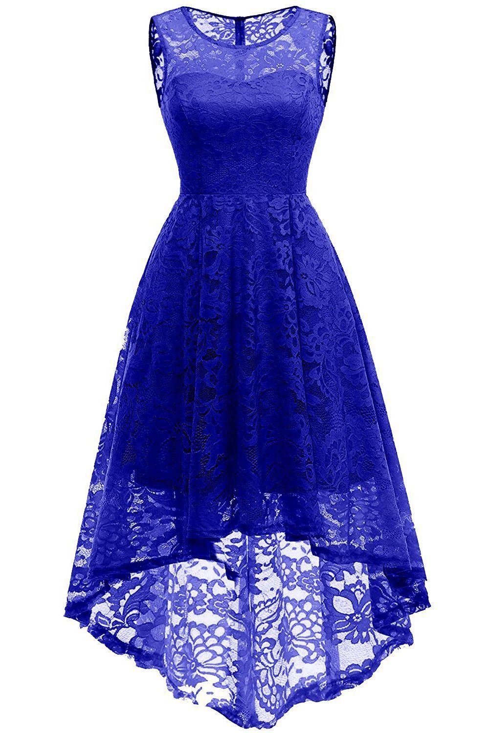 Lace Royal Blue/Burgundy Short Party Dress, Elegant Short