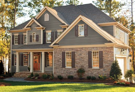 Exterior of homes designs house photo galleries and for Vinyl siding house plans