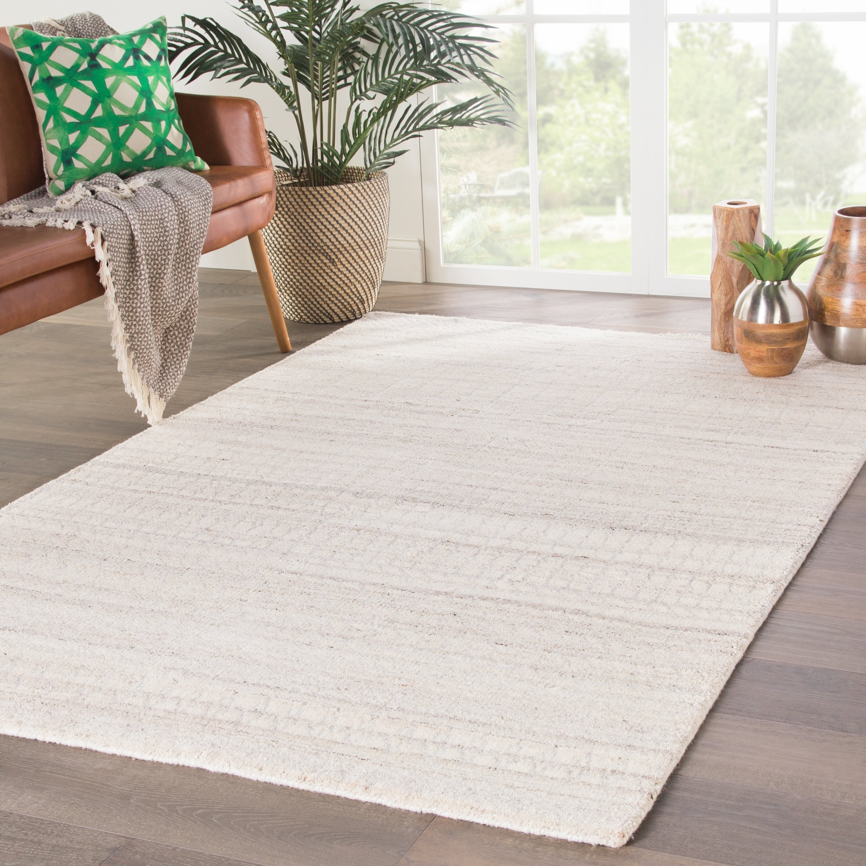 Herrick Hand Knotted Trellis Ivory Silver Area Rug 10 X 14 10 X 14 Ivory Silver Gray Juniper Home Area Rugs Rugs Rug Shapes