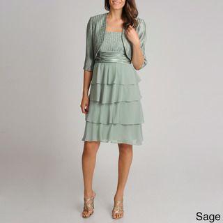 R & M Richards Women's 2-piece Collarless Jacket Dress | Overstock.com