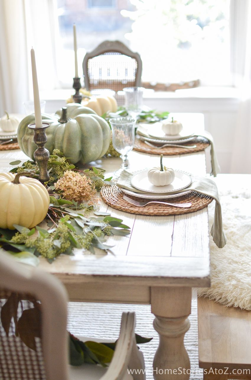 DIY Home Decor Fall Home Tour Fall dining table, Fall