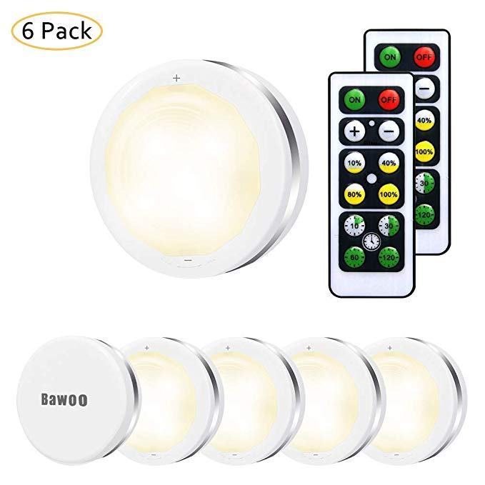 Under Cabinet Lights Bawoo Wireless Led Puck Lights Remote Control