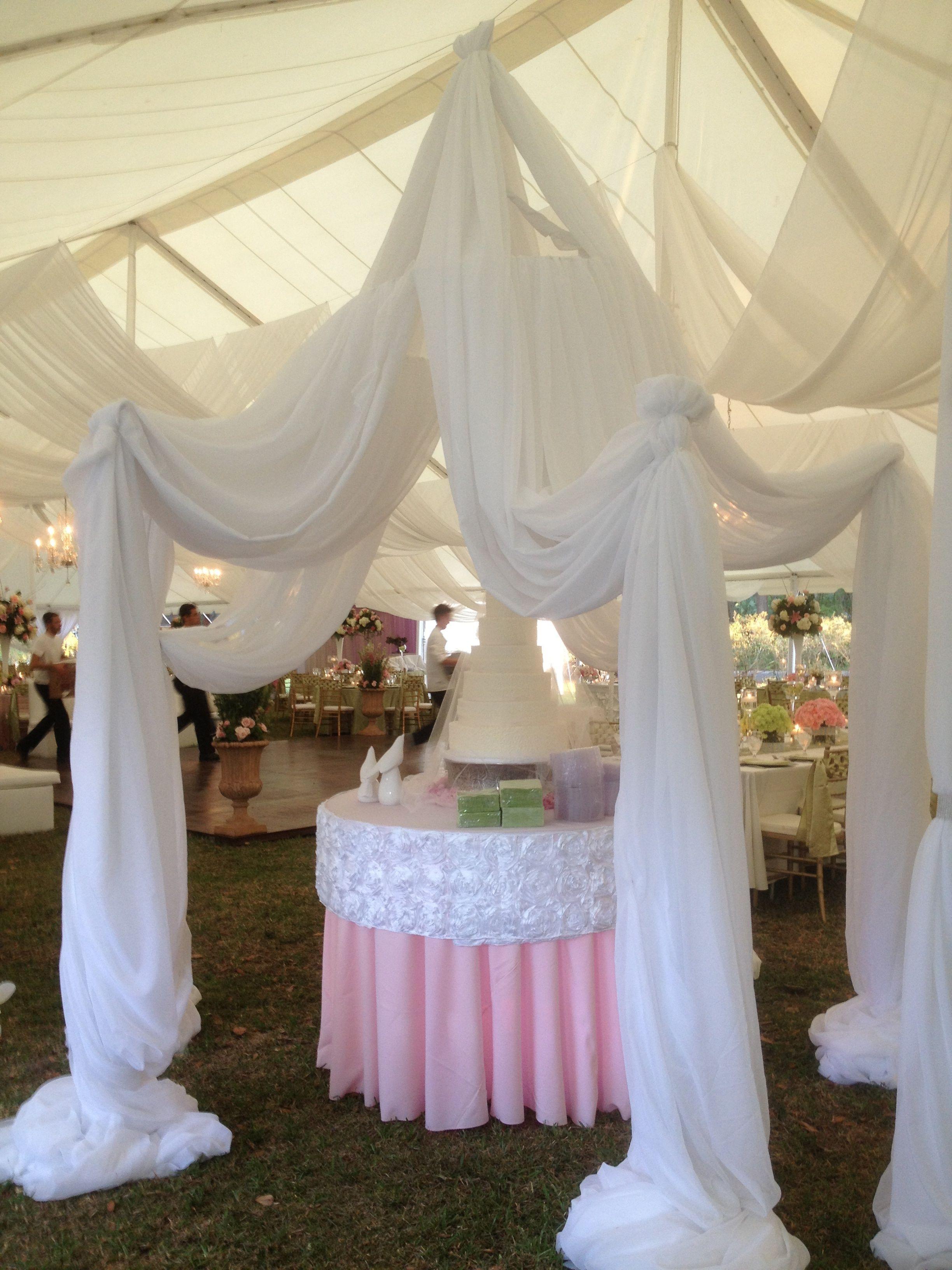 Wedding Wedding Ideas Wedding Decor Drapery Cake Stand Elegant Cake Display Drape Canopy