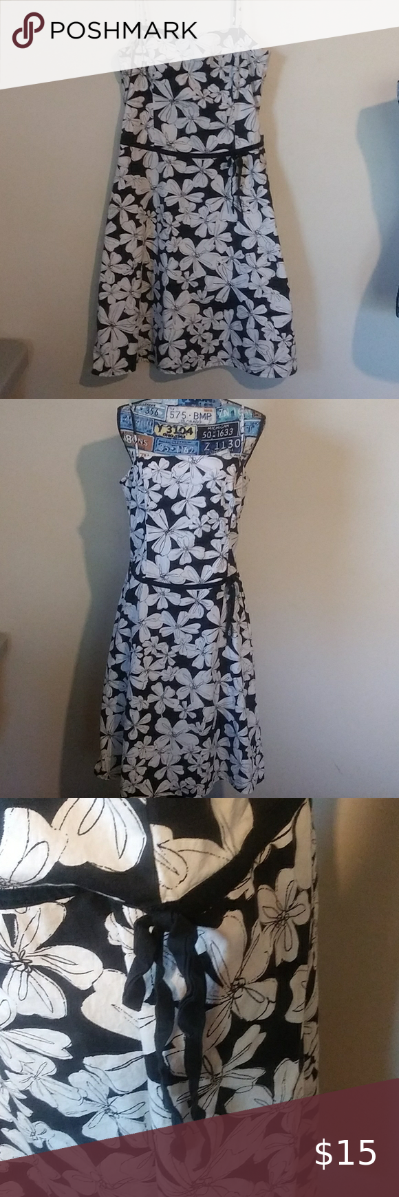 New York Co Black And White Floral Dress Floral Dress Black White Floral Dress Dresses [ 1740 x 580 Pixel ]