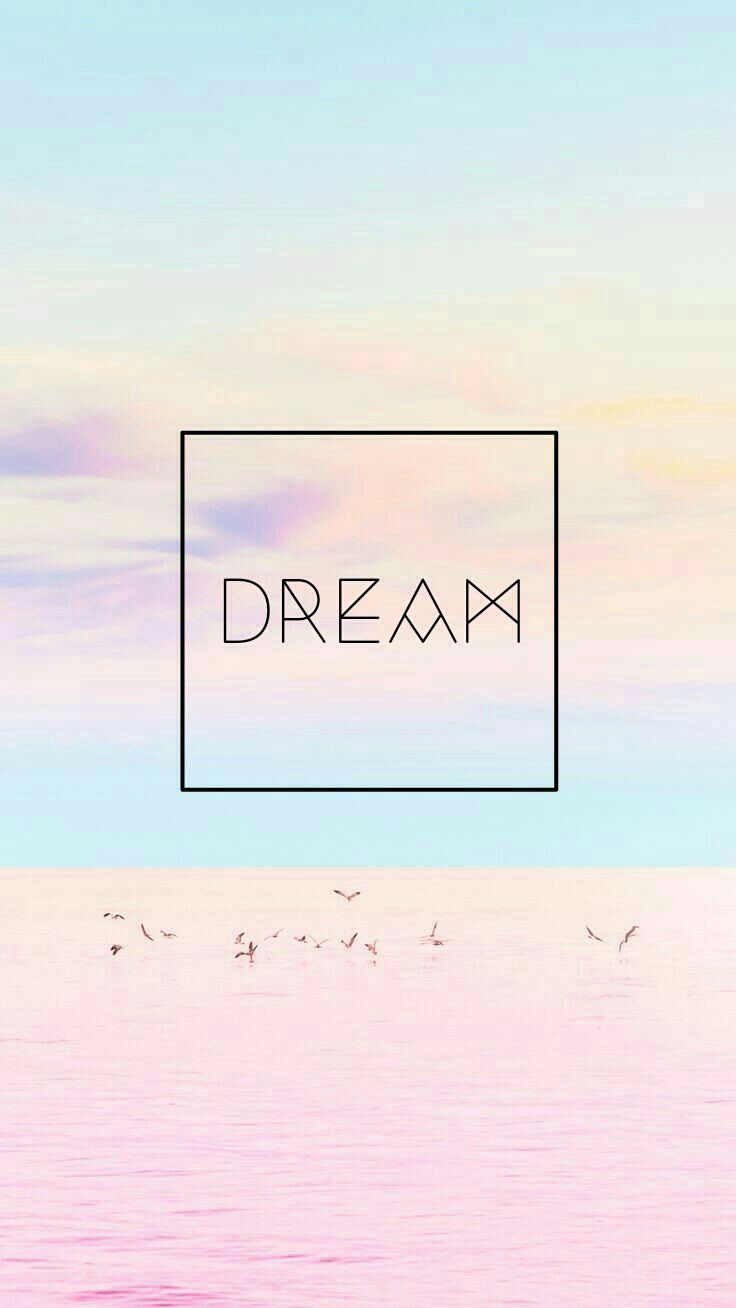 wallpaper background pretty cute pastel colors quote dream