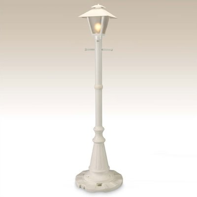 Charlton Home Nicolasa Outdoor 1 Light 82 Post Light Finish White Lamp Post Lights Lantern Post Lantern Set