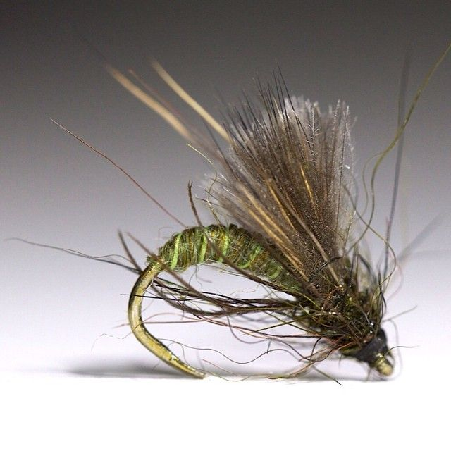 Small Caddis Emerger on TMC 2499SP-BL sz. 16. #flytying #flyfishing