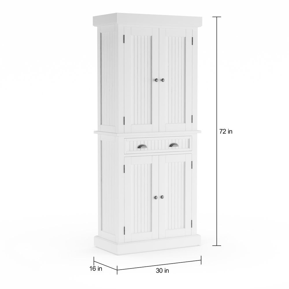Best Copper Grove Luzula White Distressed Finish Pantry White 640 x 480