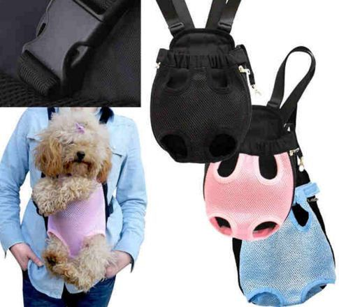Five Holes Dog Cat Carrier Backpack Front Chest Backpack Black
