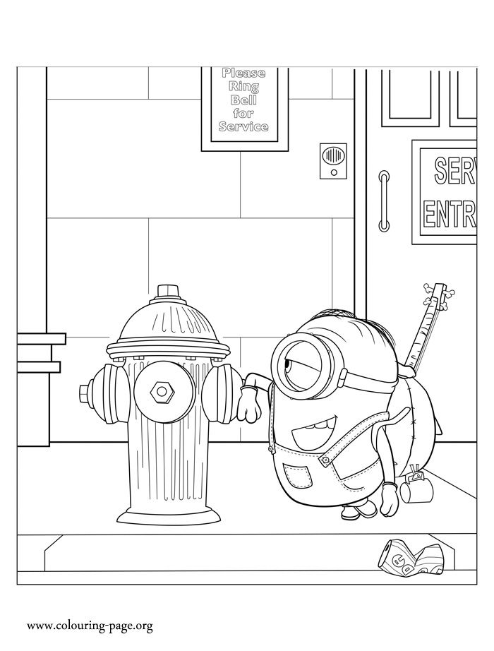 Look! It seems that Stuart is delighted with the fire hydrant. Print ...