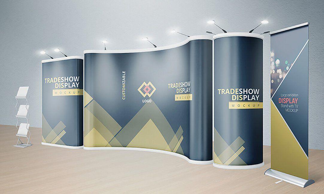 Various Trade Show Exhibition Mockup Trade Show Booth Design Booth Design Exhibition Booth Design