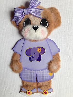 Boutique Elephant Girl Tear Bear Scrapbook Paper Piece ELITE4U 3PAPERWISHES | eBay