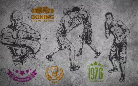 1 3d Boxing Background Wall Mural Wallpaper 339 Jessartdecoration Mural Wallpaper Wall Murals Mural