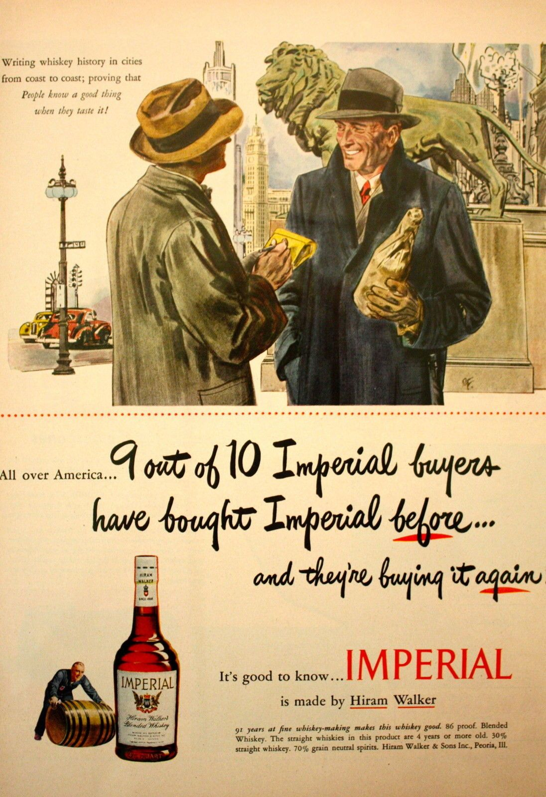 1948 Imperial Whiskey Reporter Man Chicago Art Institute