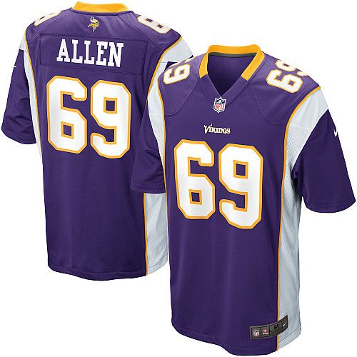 100% authentic a1182 bcc45 Mens Nike Minnesota Vikings #69 Jared Allen Game Team ...