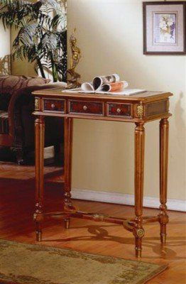 Fairfax Home Furnishings Carved Wood Tall Writing Table By Fairfax Home  Furnishings. $312.00. The