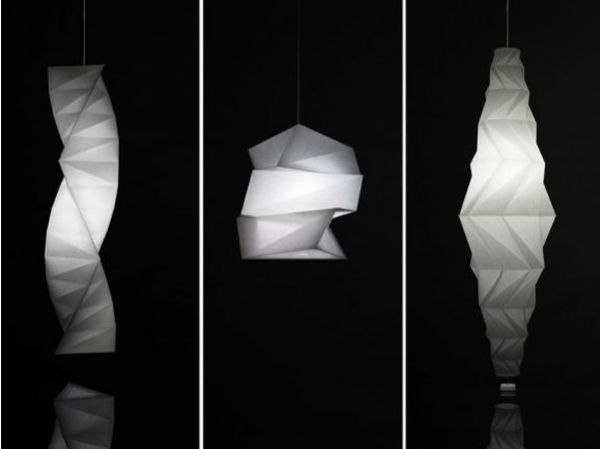 Gorgeous origami lamp shades made from recycled plastic instead of gorgeous origami lamp shades made from recycled plastic instead of paper home crux aloadofball Gallery