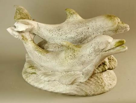 Swimming Dolphins Garden Statue Available At AllSculptures.com