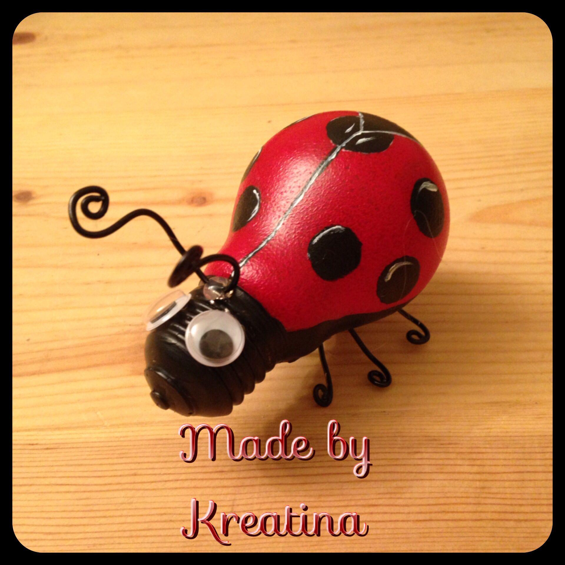 Ladybug - Mariehøne | Light...bulb...ideas | Pinterest | Light ... for Painted Light Bulb Art  584dqh