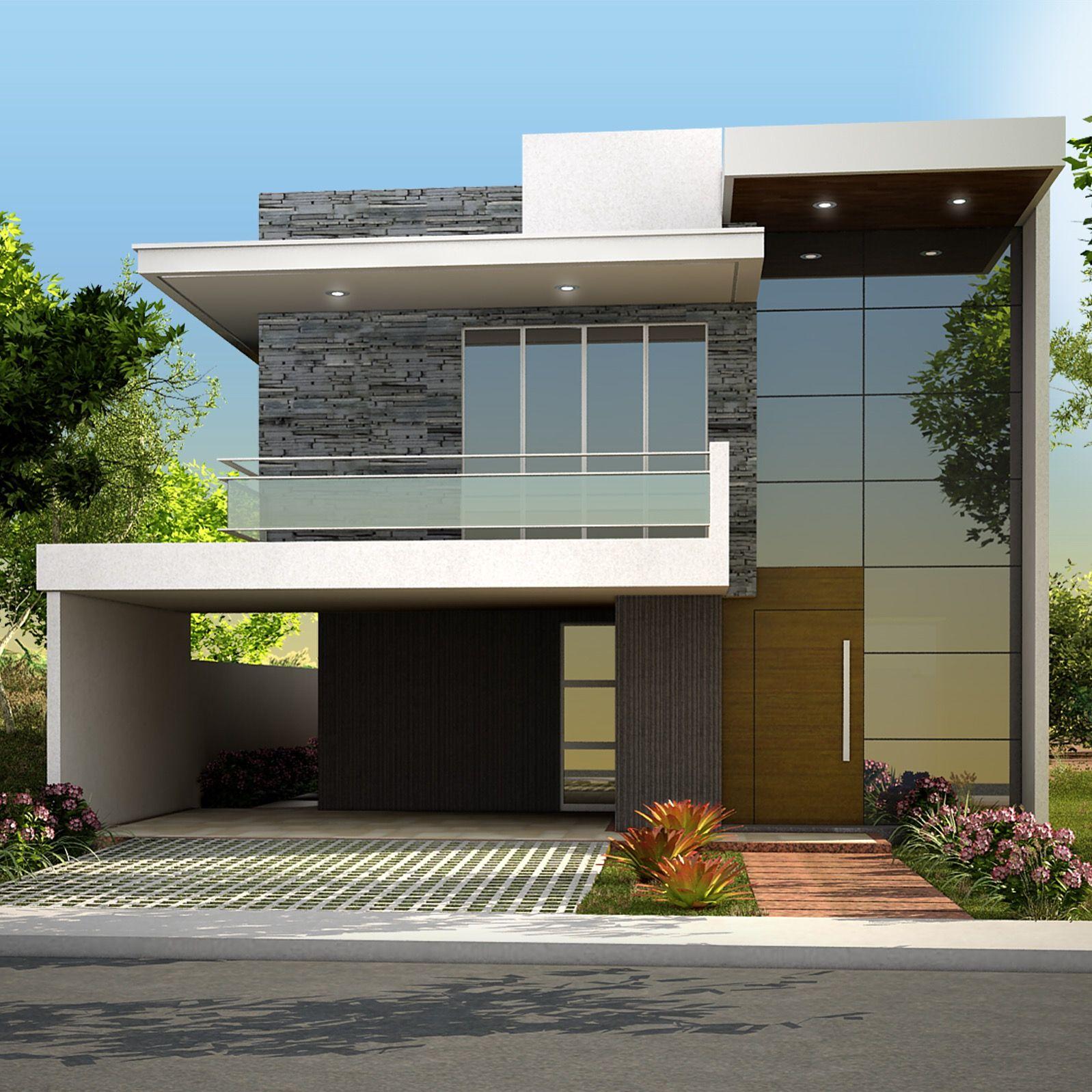 Fachada chilca arquitectura en 2019 casas modernas for Viviendas estilo minimalista