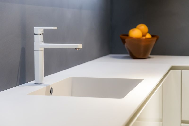 Witte kraan bij nuva keukens. nuva keukens goed bedacht! moderne