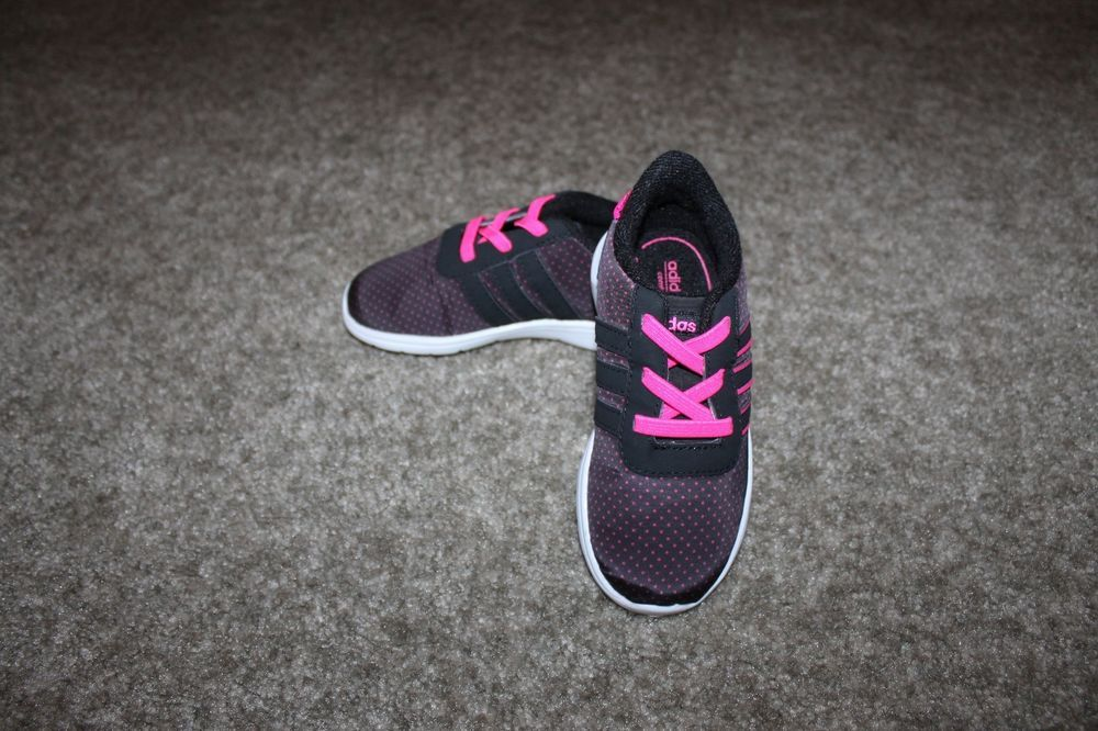 sports shoes 2a95e 74b17 NEW Adidas NEO adiFIT Comfort Footbed Girls Black Pink Size 8K US (NO BOX)  adidas Athletic