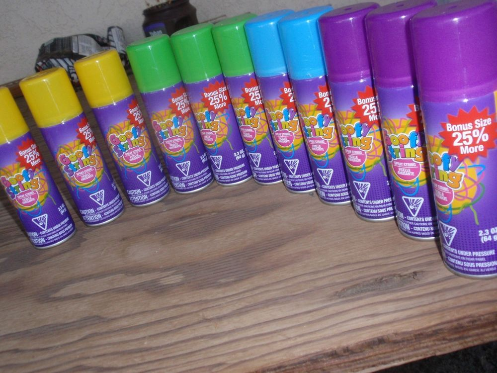 Goofy String - Silly String - Bonus Size 25% More - 4 Colors - 11 Cans #GoofyString #Any