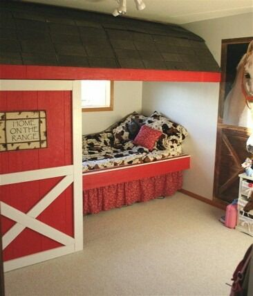 Western Themed Kids Room Barn Western Country Bedroom Themed